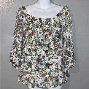 Maurices floral off the shoulder blouse